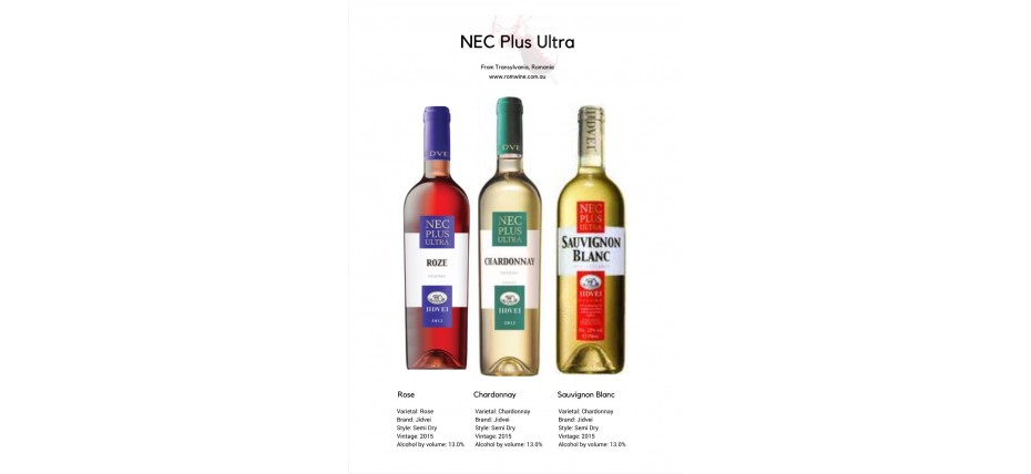 <h1>NEC range from Jidvei is  back in Australia: Sauvignon  Blanc+Chardonnay+Rose